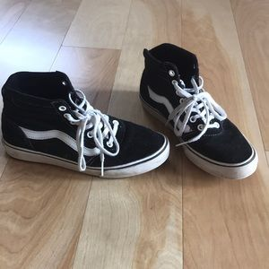 Vans black hi tops, size 6.5 good condition
